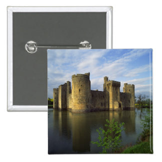 England, Sussex, Bodiam Castle 15 Cm Square Badge