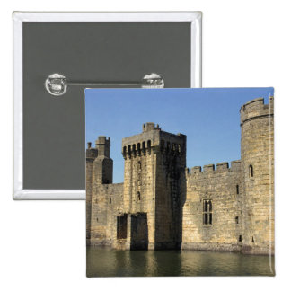 England, Sussex, Bodiam Castle. 15 Cm Square Badge