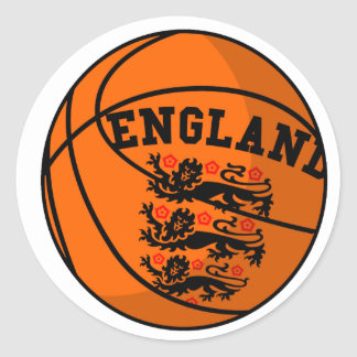 England Three Lions Basketball Sticker