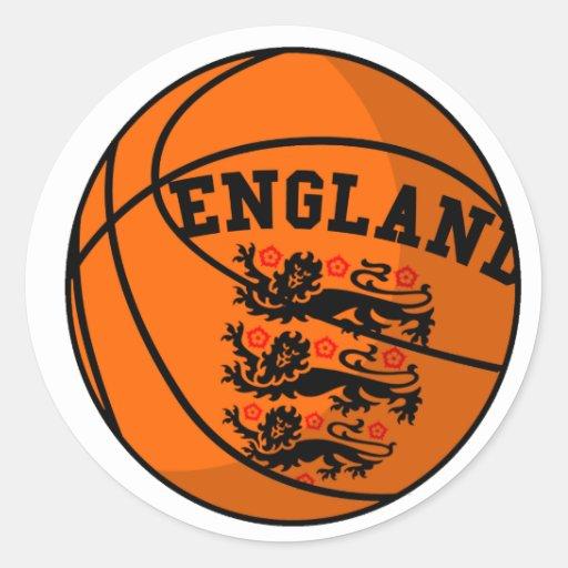 England Three Lions Basketball Sticker