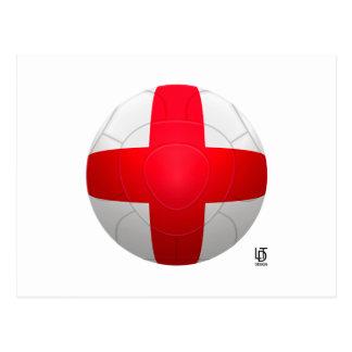 England - Three Lions Football Postcard