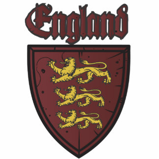 England Three Lions Wooden Shield Photo Cutout