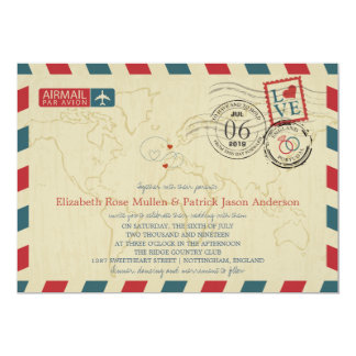 England UK / Portugal Airmail | Wedding Card