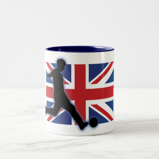 England UK Striker Two-Tone Coffee Mug