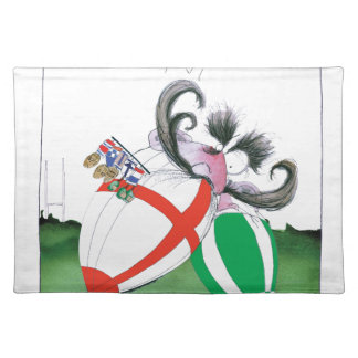 england v ireland rugby balls - from tony fernande placemat