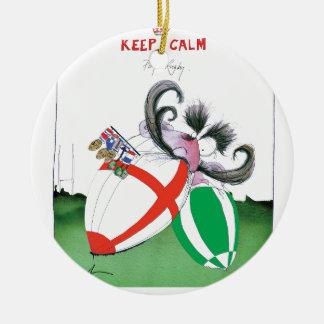 england v ireland rugby balls - from tony fernande round ceramic decoration