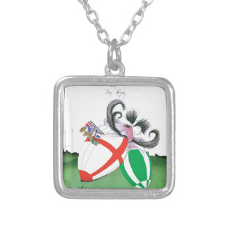 england v ireland rugby balls - from tony fernande silver plated necklace