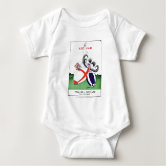 england v scoland rugby balls from tony fernandes baby bodysuit