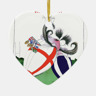 england v scoland rugby balls from tony fernandes christmas ornament