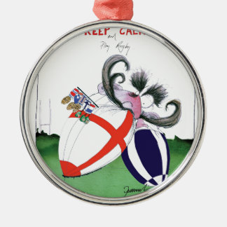 england v scoland rugby balls from tony fernandes Silver-Colored round decoration