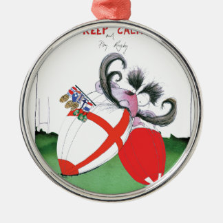 england v wales rugby balls from tony fernandes Silver-Colored round decoration