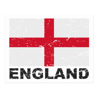 England Vintage Flag Post Card