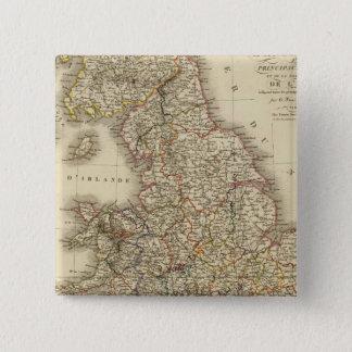 England, Wales 15 Cm Square Badge