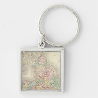 England, Wales 3 Silver-Colored Square Key Ring