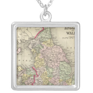 England, Wales 4 Silver Plated Necklace