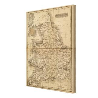 England, Wales 5 Canvas Print