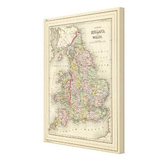 England, Wales Canvas Print