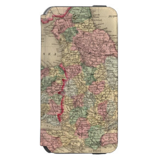 England, Wales Map by Mitchell Incipio Watson™ iPhone 6 Wallet Case