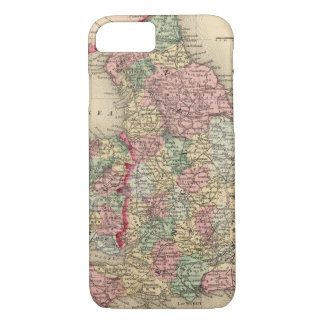 England, Wales Map by Mitchell iPhone 8/7 Case
