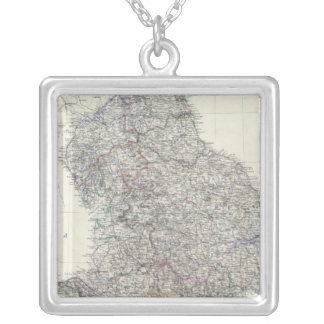 England, Wales N Silver Plated Necklace