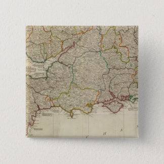 England, Wales, south 15 Cm Square Badge