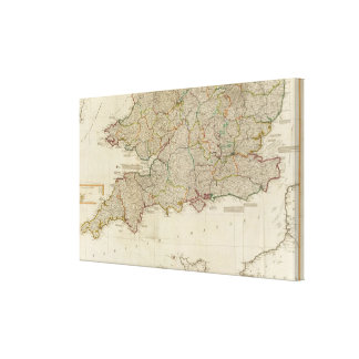 England, Wales, south Canvas Print