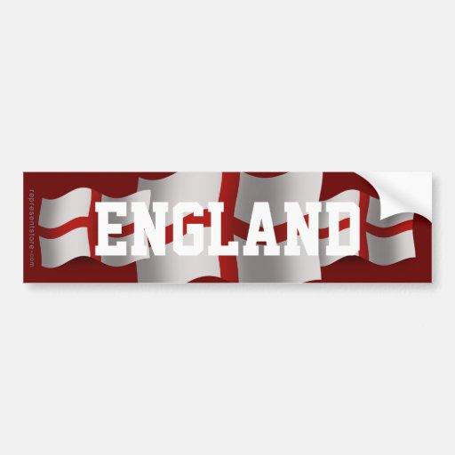 England Waving Flag Bumper Stickers