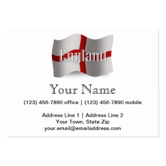 England Waving Flag Pack Of Chubby Business Cards