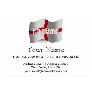 England Waving Flag Business Card Template
