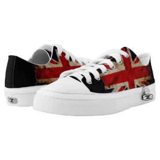 England World Flag Grunge Art Kickers Printed Shoes