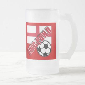 ENGLAND World Soccer Fan Tshirts Frosted Glass Mug