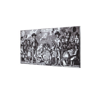 England's Famous Discoverers Canvas Print