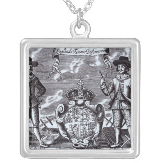 England's Famous Discoverers Silver Plated Necklace