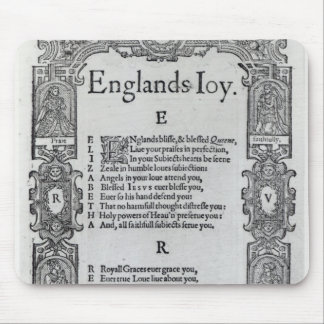 England's Joy by Richard Vennar, c.1602 Mouse Mat