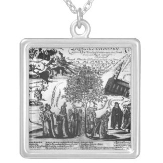 England's Memorial Silver Plated Necklace