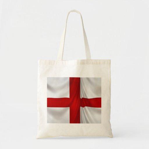 England's St George Cross Patriotic Flag Tote Bags