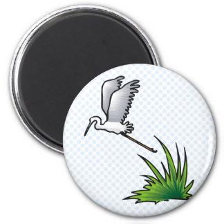 Englebert Egret 6 Cm Round Magnet