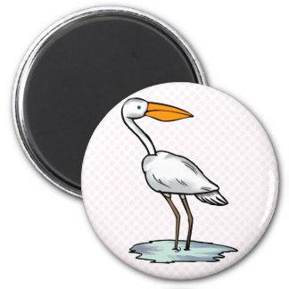 Englewood Egret 6 Cm Round Magnet