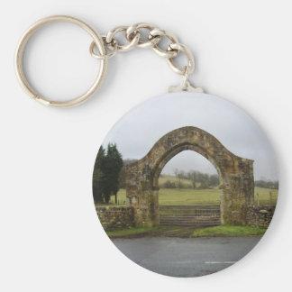 English Abbey gateway ruins Keychains
