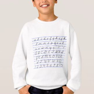 English Alphabet Diagram in Cursive Handwriting Sweatshirt