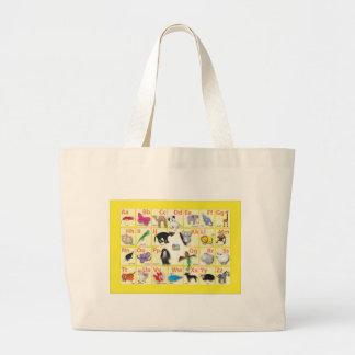 English Alphabet Large Tote Bag