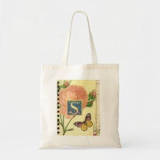 English Alphabet S Tote Bag