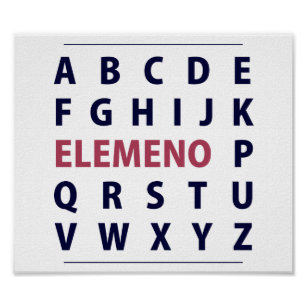 English Alphapbet ELEMENO Song Poster