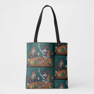 English and French lunch Cats Tote Bag
