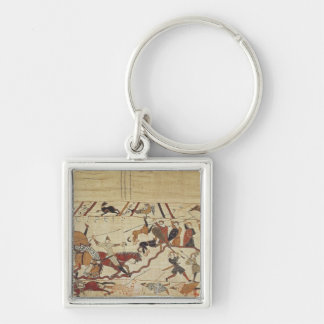 English and French soldiers Key Ring