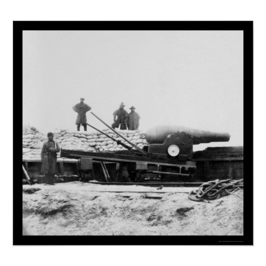 English Armstrong Gun in Fort Fisher, NC 1864 Poster
