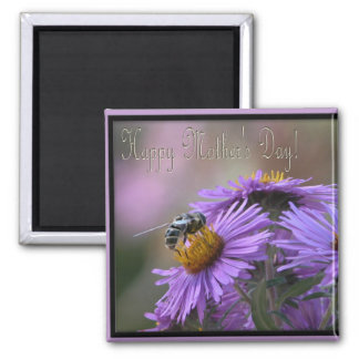 English Aster/Happy Mothers's Day Square Magnet