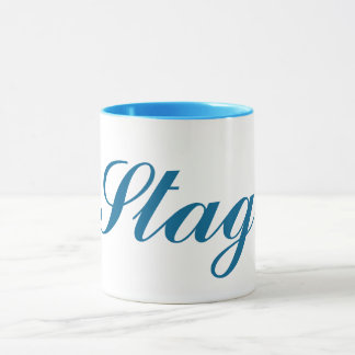 english bachelor party stag mug design