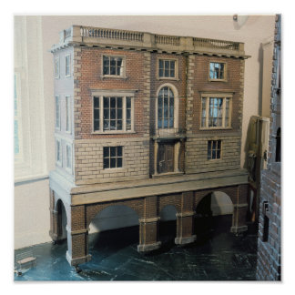 English balustraded doll's house with balcony poster