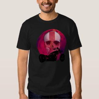 English Biker Skull Imprint T Shirts